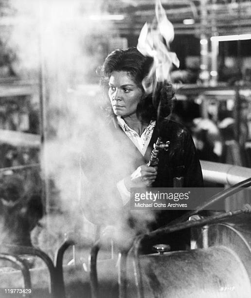 Florinda Bolkan in her job as a factor worker in a scene from the film 'A Brief Vacation' 1973