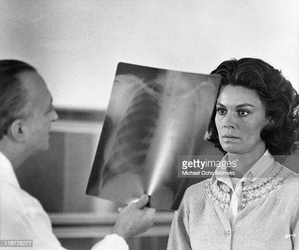 Florinda Bolkan looks at XRay in a scene from the film 'A Brief Vacation' 1973
