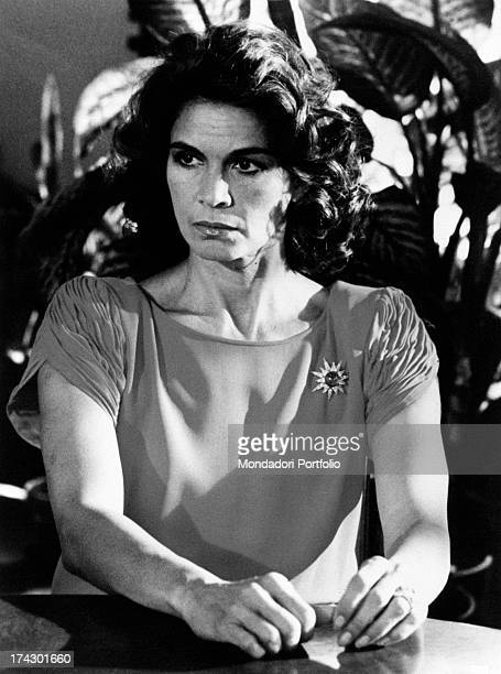 Florinda Bolkan stage name of Florinda Soares Bulcão playing the role of the tough countess Olga Camastra in a scene of the successful TV series La...
