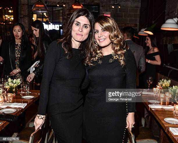 Florinka Pesenti and Behnaz Ghahramani attend the Vanity Fair And Gucci Private Dinner at Gusto 101 on March 27 2014 in Toronto Canada