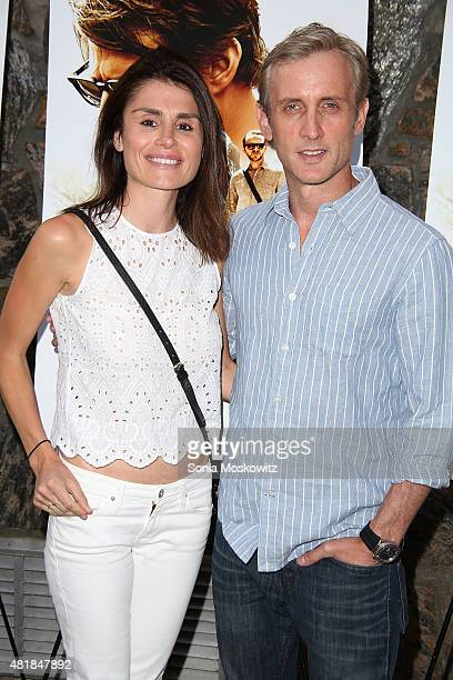 Florinka Pesenti and Dan Abrams attend a special screening of Mission ImpossibleRogue Nation at United Artists East Hampton Cinema on July 24 2015 in...