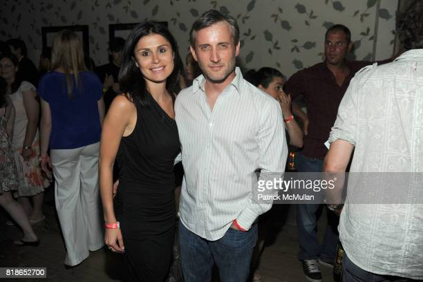 Florinka Pesenti and Dan Abrams attend THE CINEMA SOCIETY PIAGET host the after party for THE TWILIGHT SAGA ECLIPSE at Crosby Street Hotel on June 28...