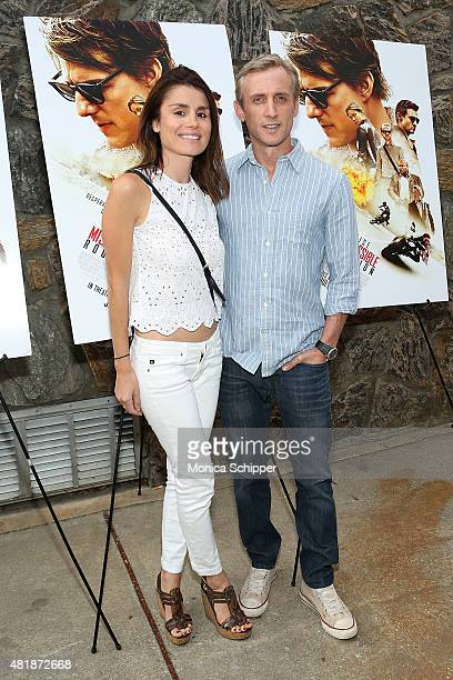 Florinka Pesenti and Dan Abrams attend the Mission Impossible Rogue Nation Special Screening Hosted By Alec Baldwin Arrivals at United Artists East...