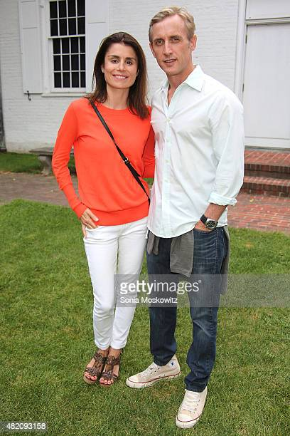 Florinka Pesenti and Dan Abrams attend the VIP Sneak screening of 99 Homes at Guild Hall on July 26 2015 in East Hampton New York
