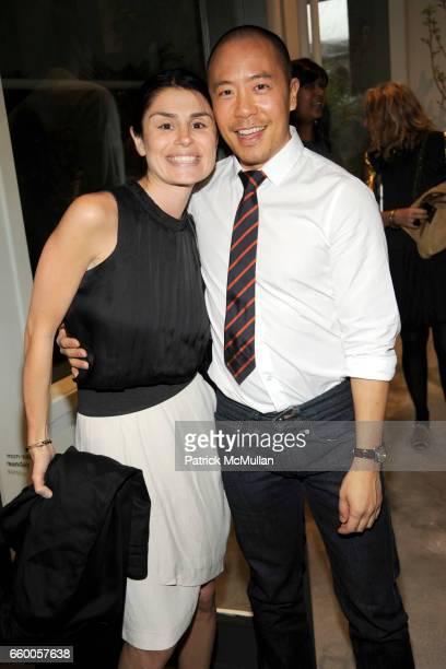 Florinka Pesenti and Derek Lam attend DEREK LAM Boutique Opening at Derek Lam on May 6 2009 in New York City