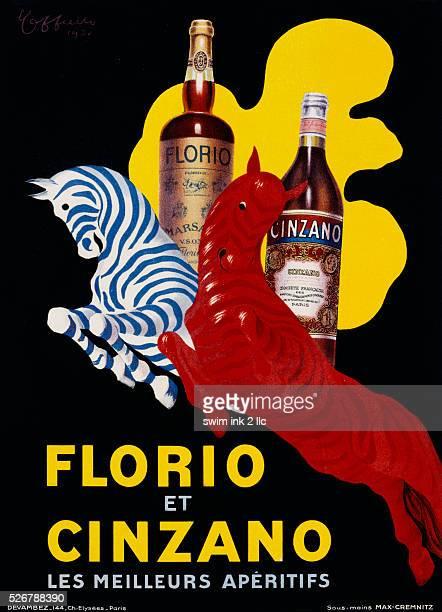 Florio et Cinzano Poster by Leonetto Cappiello