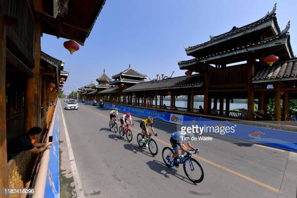 Floris De Tier of Belgium and Team Jumbo - Visma / Roy Goldstein of Israel and Team Israel Cycling Academy / Jay Robert Thomson of South Africa and...