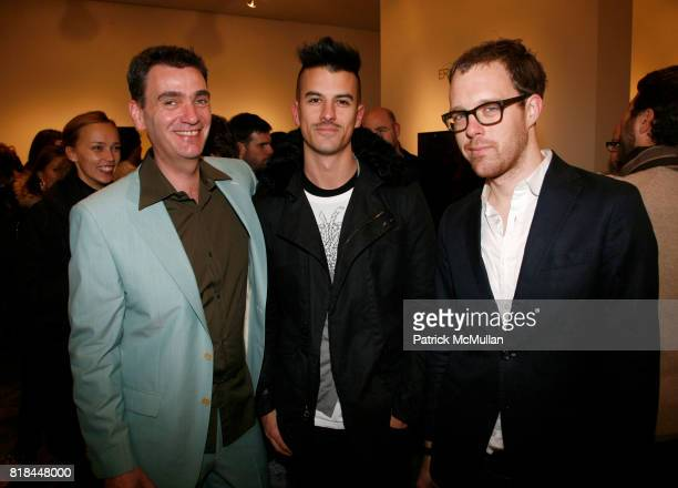 Floris Vos Jonathan Beck and Kyle Garner attend ERWIN OLAF Opening Reception at Hasted Hunt Kraeutler on January 28 2010 in New York