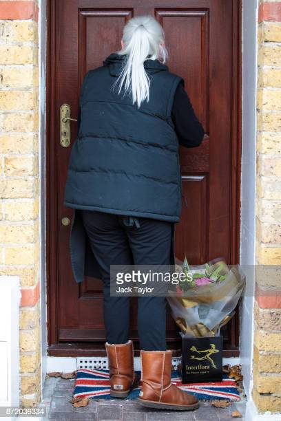 A florist delivers flowers to the home of former international development secretary Priti Patel after she was forced to resign from her cabinet...