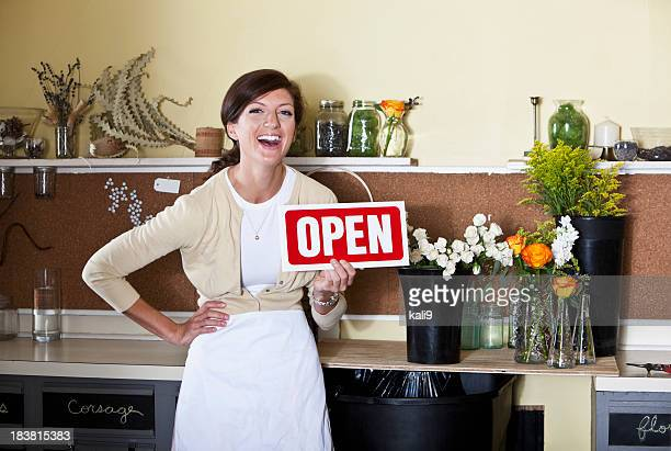 florist shop open for business - kali rose stock pictures, royalty-free photos & images
