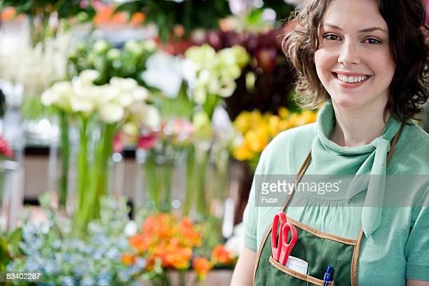Florist Standing in Shop