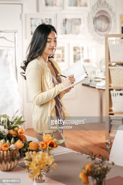 Florist  working in her shop
