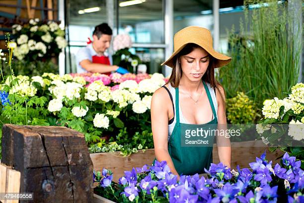 Florists in a Flower Shop