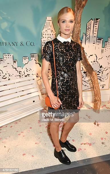 Florrie attends the Tiffany Co immersive exhibition 'Fifth 57th' at The Old Selfridges Hotel on July 1 2015 in London England