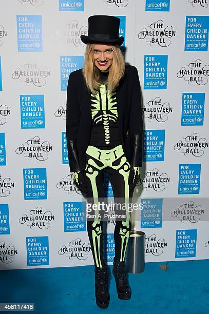 Florrie attends the UNICEF Halloween Ball at One Mayfair on October 30 2014 in London England