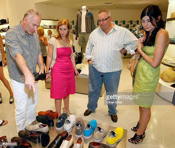 Florsheim by Duckie Brown general manager Danny Livingston Katie Abel from Footwear News Sam Poser from Sterne Agee and Meghan Cass from Footwear...