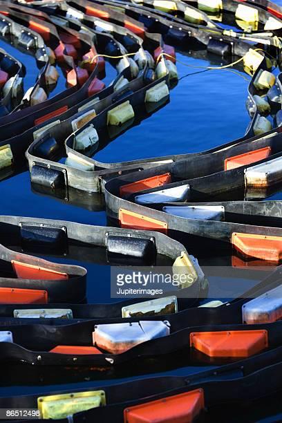Flotation oil spill equipment