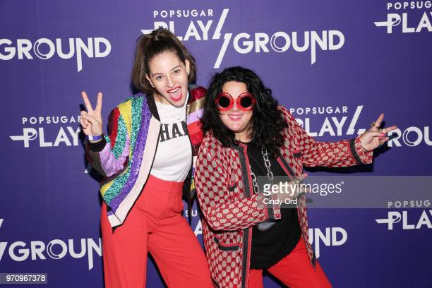 Flour Shop founder Amirah Kassem and artist Ashley Longshore attend day 2 of POPSUGAR Play/Ground on June 10 2018 in New York City