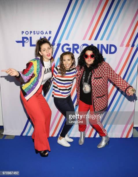 Flour Shop founder Amirah Kassem POPSUGAR founder Lisa Sugar and artist Ashley Longshore attend day 2 of POPSUGAR Play/Ground on June 10 2018 in New...