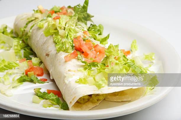 flour tortilla Black Bean and Rice Burrito