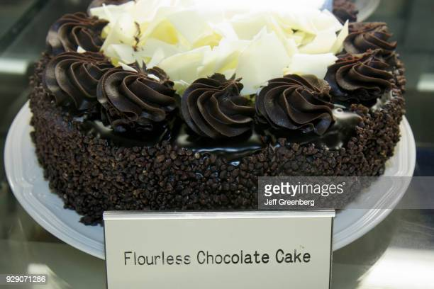 A flourless chocolate cake from the BLine Diner at The Peabody Orlando