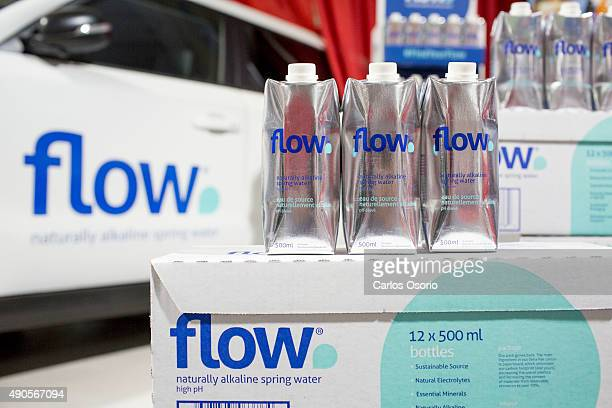 TORONTO ON SEPTEMBER 29 Flow naturally alkaline spring water photographed at GIC on September 29 2015 Hundreds of Canada's grocers are meeting in...