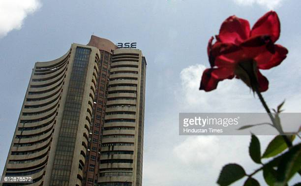 BSE Flower A view of the Bombay Stock Exchange on the first few minutes of trade as the Sensex crossed the 13000 mark as a reaction to the political...