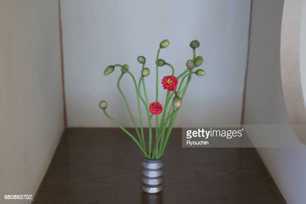 Flower arrangement in the Japanese style room