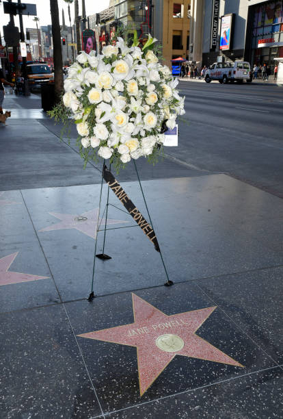 CA: Flowers Placed On The Hollywood Walk Of Fame Star Of Late Actress Jane Powell
