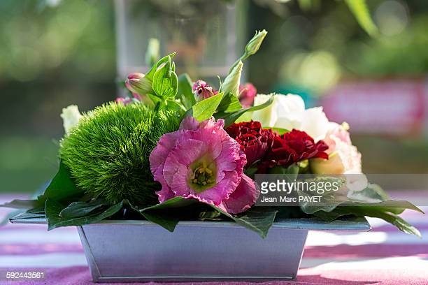 flower arrangement - jean marc payet stockfoto's en -beelden