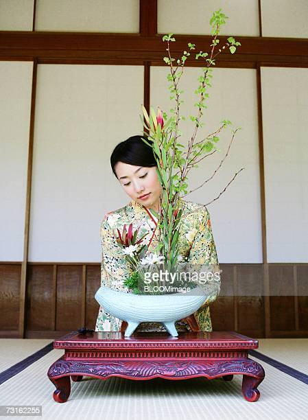 flower arrangement - ikebana stock pictures, royalty-free photos & images