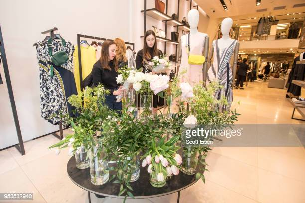 A flower bar at Max Mara's Newbury St location as it celebrates Boston ICA's Watershed Gala on May 1 2018 in Boston Massachusetts
