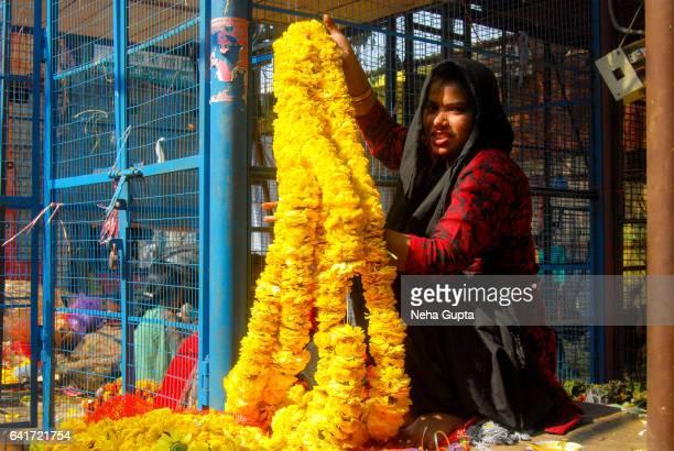 flower bazaar - neha gupta stock pictures, royalty-free photos & images