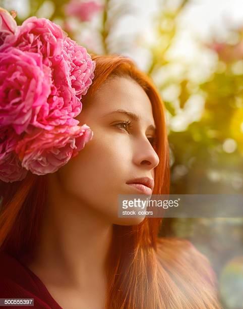 flower beauty woman