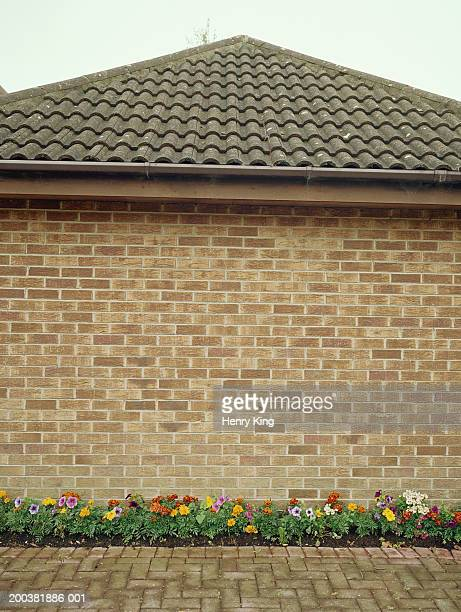 flower bed along side of house - suburban stock pictures, royalty-free photos & images