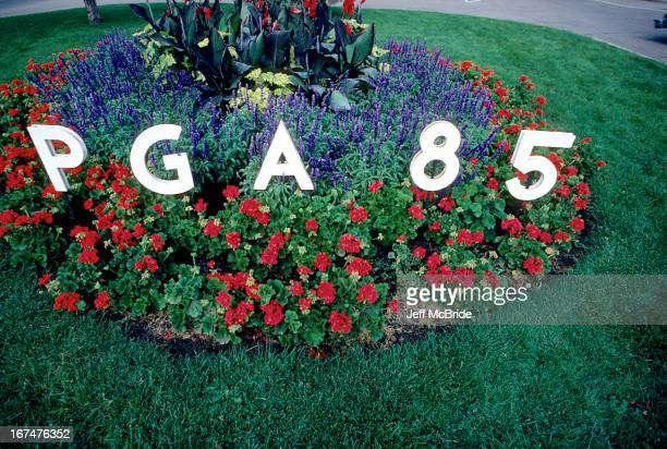 A flower bed at the 67th PGA Championship held at Cherry Hills Country Club in Englewood Colorado August 811 1985