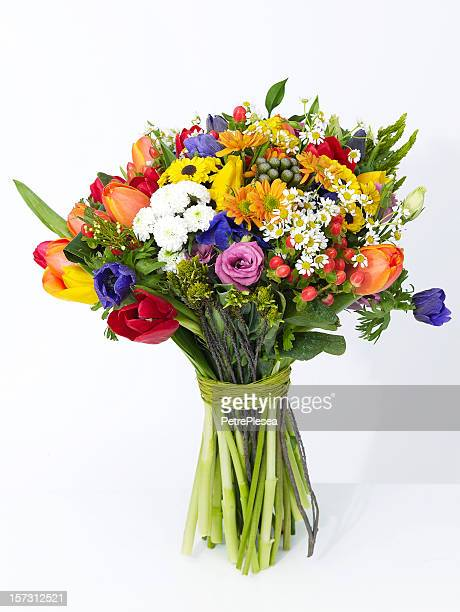 flower bouquet - bunch stock pictures, royalty-free photos & images