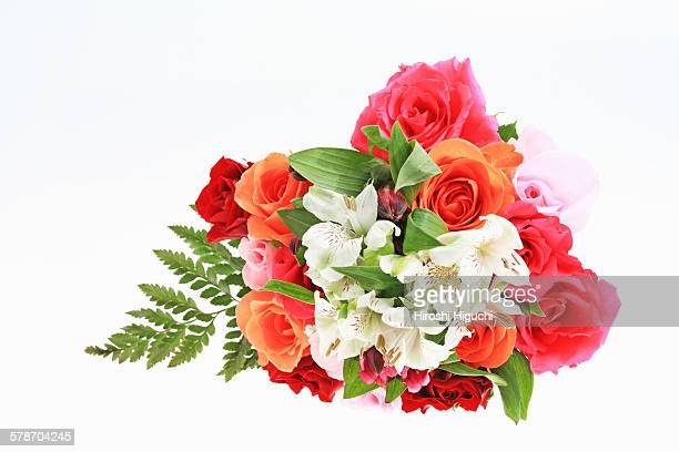flower bouquet - alstroemeria stock pictures, royalty-free photos & images