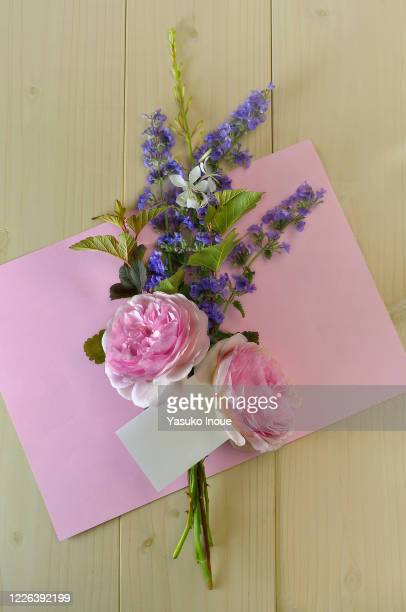 flower buquet with white blank for