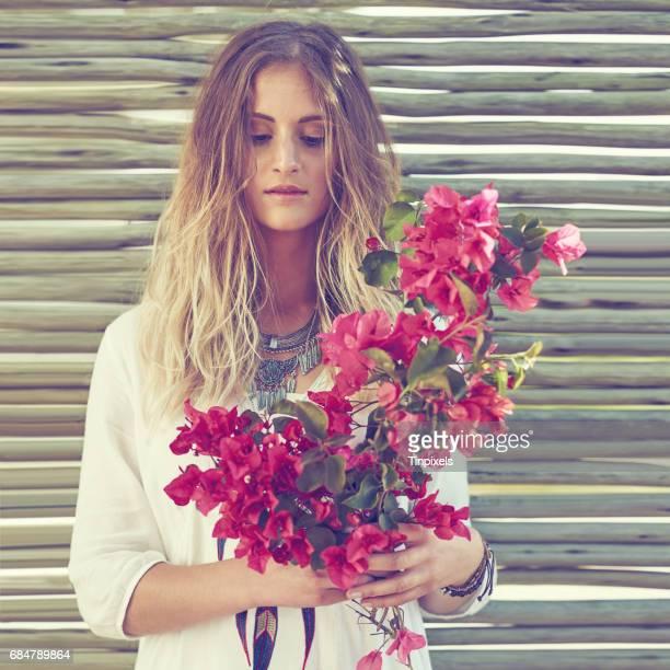 Blumenkind inspirierte Mode