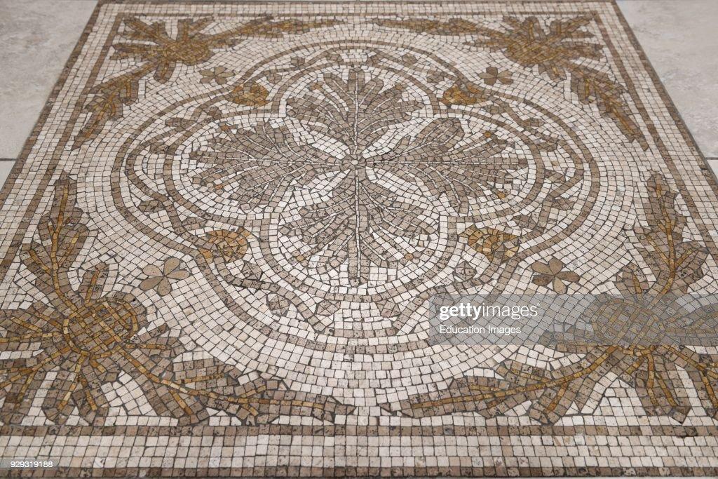Flower Design Cross Of Saint Florian Mosaic Floor Of A Toronto Roman