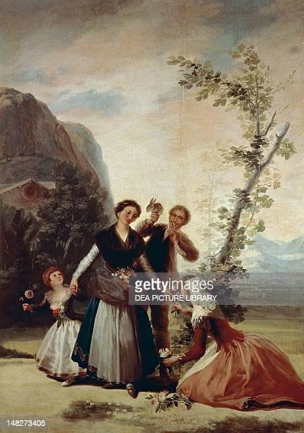 Flower girls or Spring 17861787 by Francisco de Goya tapestry cartoon Madrid Museo Del Prado