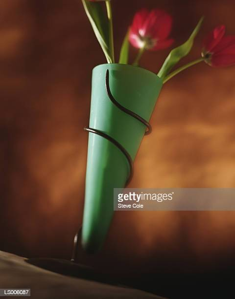 Flower In Funky Vase Stock Photo Getty Images