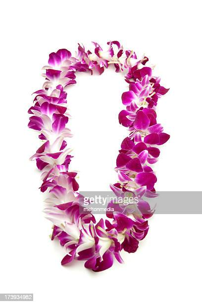 flower lei - necklace stock pictures, royalty-free photos & images