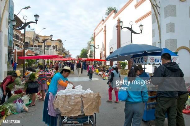 flower market in cochabamba bolivia - cochabamba stock pictures, royalty-free photos & images