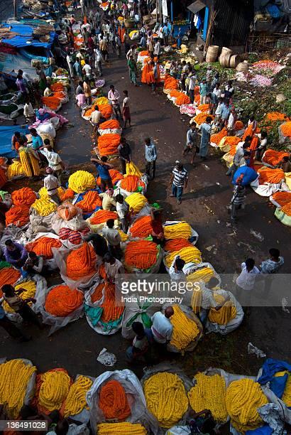 Flower Market, Kolkata, India