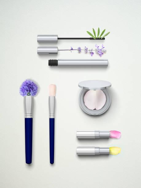 Flower petal cosmetics