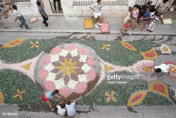 Flower Petal Street Mural
