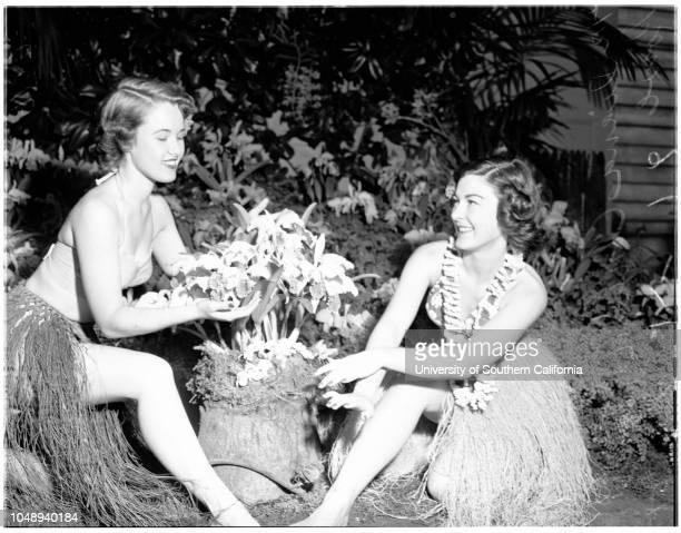 Flower show Pasadena April 12 1951 Diana ConradToni RoweLydia ChamberlinNancy MutschlerNancy HyslopPat HalprinCarol EmmerlingSonia ReynoldsBarbara...