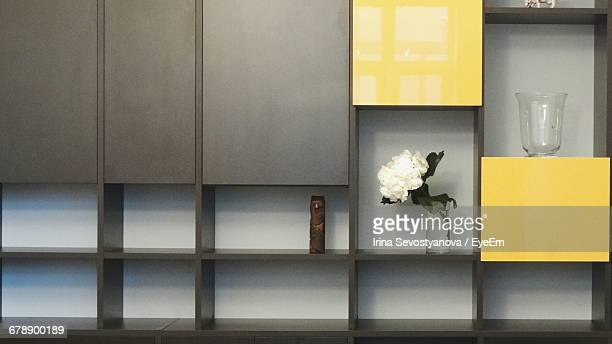 Flower Vase On Shelf At Home